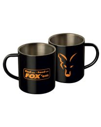 Fox stainless steel mug black xl