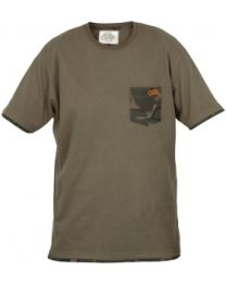 Fox Chunk Khaki Camo Pocket T-Shirt M