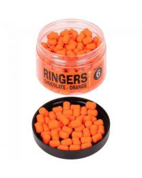 Ringers banded chocolate wafter orange 6mm