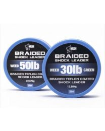 Nash Braided Shock Leader 30lb Weed