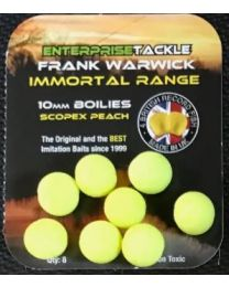 Enterprise tackle immortal 10mm boilie fluoro yellow scopex peach