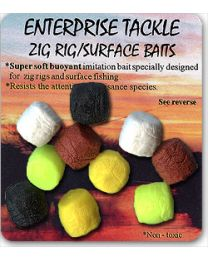 Enterprise tackle zig rig foam mixed colours