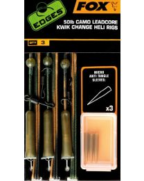 Fox edges camo leadcore kwik change heli rigs 50lb