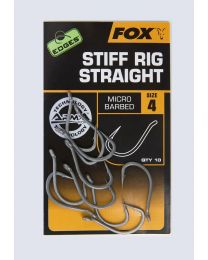 Fox edges stiff rig straight hook size 4