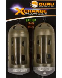 Guru x-change window bait up feeders 40+50gr