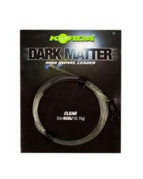 Korda dark matter leader ring swivel clear