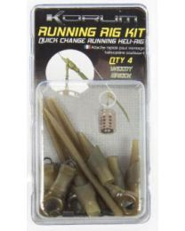 Korum Running Rig Kit Small Weedy Green