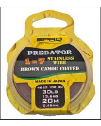 Spro Predator Brown Coated Wire 40lb 20m