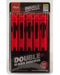 Preston Double Slider Winders 18cm 10pcs