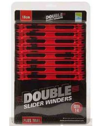 Preston double slider winders 18cm rood + tray