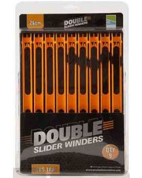 Preston Double Slider Winders 26cm orange in tray