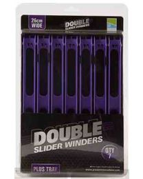 Preston Double Slider Winders 26cm paars in tray