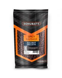 Sonubaits spicy sausage halibut pellets 8mm