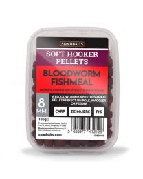Sonubaits soft hooker pellets bloodworm 8mm
