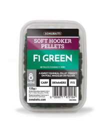 Sonubaits soft hooker pellets f1 green 8mm
