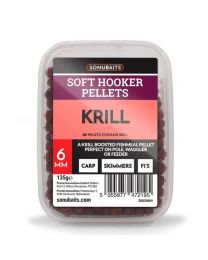 Sonubaits soft hooker pellets krill 6mm