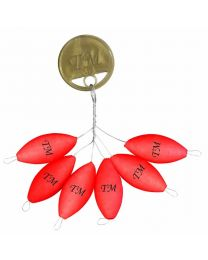 Trout Master pilot floats red 10x20mm