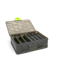 Matrix double sided feeder and tackle box