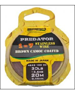 Spro Predator Brown Coated Wire 30lb 20m